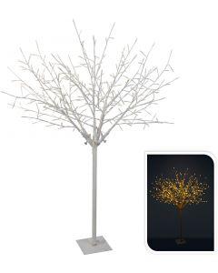 Arbre à branches blanc 304LED blanc chaud 150 cm