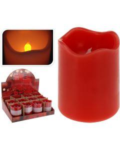 Bougie led avec minuterie 7x9 cm rouge