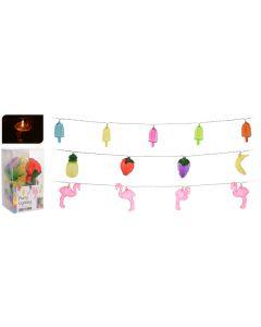 Éclairage de fête Flamant rose / Glace / Fruit