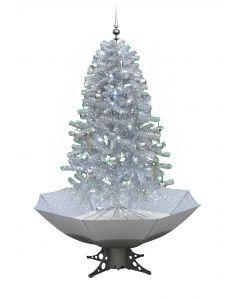 Sapin de Noël Simulation chute de neige - Blanc/Argent 170cm