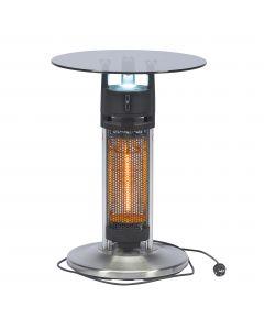 Table bistro avec radiateur