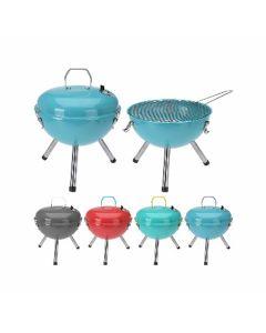 Barbecue au charbon de bois rond