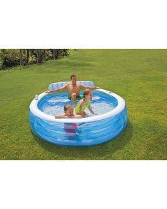 piscine Family Lounge Intex avec banc
