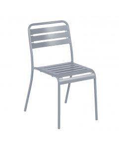 Chaise empilable acier gris