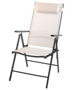 Chaise pliable dossier haut blanc