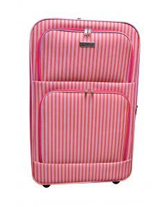 Grande valise à dessin rayé 80 litres
