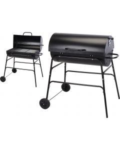 Barbecue au charbon de bois forme cylindre