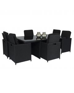 Ensemble lounge Pure Garden & Living Cube XL - Noir