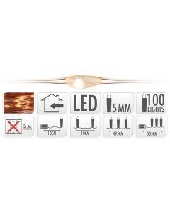Éclairage led 100 ampoules LED blanc chaud