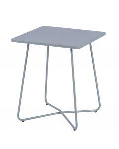 Table métal gris clair mat
