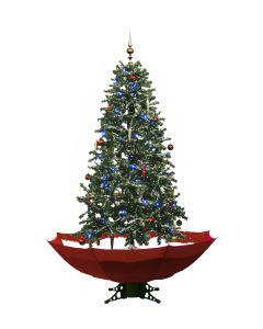 Sapin de Noël Simulation chute de neige - Rouge 180cm