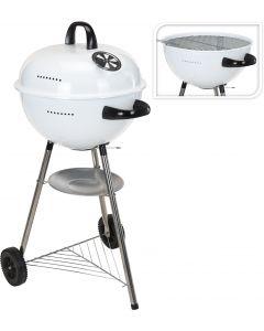 Barbecue au charbon boule 48 cm blanc