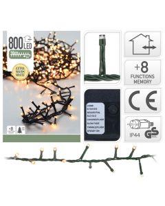 Guirlande lumineuse en grappe led 800 ampoules
