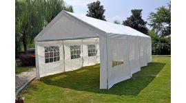 Pure Garden & Living chapiteau blanc 4 x 8 mètres avec bâches latérales