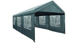 Chapiteau 3 x 6 mètres Deluxe Gris avec bâches latérales Pure Garden & Living