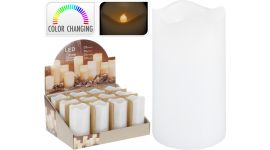 Bougie led avec minuterie 7x13 cm multicolor