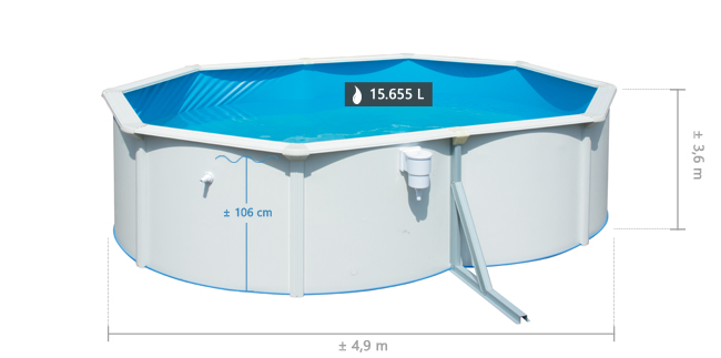 Splasher pool 460 x 120 cm